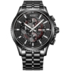 BUREI® Herren-Armbanduhr Chronograph Analog Quarz Edelstahl Sport Schwarz Armbanduhr Wasserdicht Uhr feuerfest kratzfest Uhr -